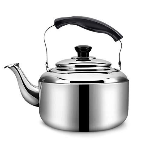 En acier inoxydable 304 haute qualité Whistle sur la cuisinière bouilloires 4L / 5L Ménage cuisinière à gaz cuisinière universelle (taille : 4L)