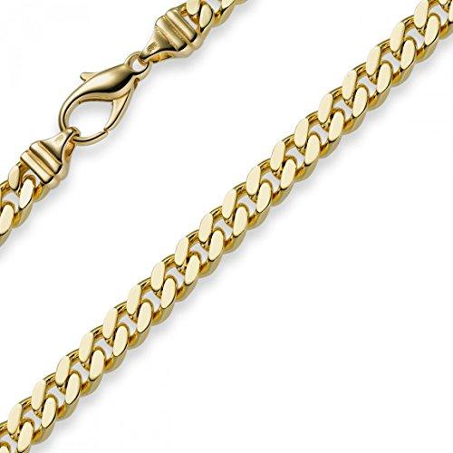 6mm Panzerarmband Armband Armkette 585 Gold Gelbgold 19cm Herren Goldarmband