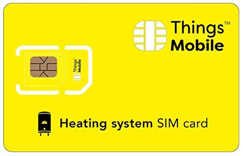 SIM-Karte für HEIZUNGSANLAGEN - Things Mobile - mit weltweiter Netzabdeckung und Mehrfachanbieternetz GSM/2G/3G/4G. Ohne Fixkosten und ohne Verfallsdatum. 10 € Guthaben inklusive