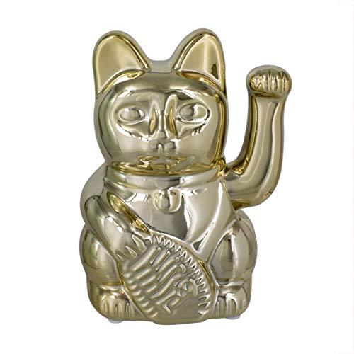 Paladone Chinesische Glücks-Katze winkende Spardose | Premium Gold Keramik Münze Sparschwein | Japanischer Maneki Neko & Feng Shui Glücksbringer | für Kinder & Erwachsene, Gott | 17 x 13 x 10 cm