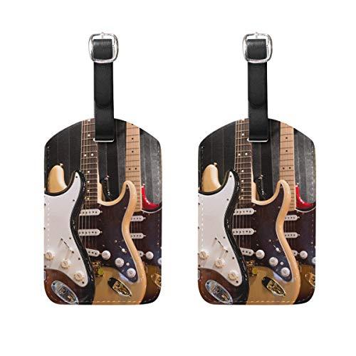 Ahomy - Juego de 2 Etiquetas de Seguridad para Equipaje, Guitarra eléctrica,...