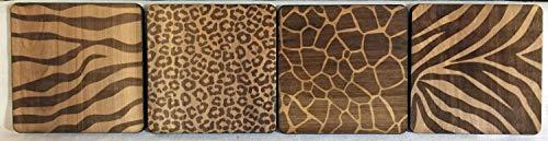 For367Walton Untersetzer mit Tiermotiv, aus Holz, Laserdruck, Muttertag
