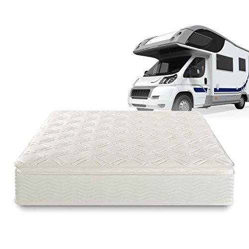 Zinus Deluxe Spring 10 Inch Pillow Top RV / Camper / Trailer / Truck Mattress, Short Queen