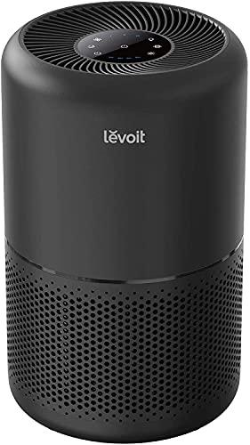 Levoit Luftreiniger H13 HEPA Luftfilter für Allergiker, Air Purifier gegen 99,97% von Pollen Staub Rauch, CADR 187m³/h, bis zu 40㎡, 4 Lüfterstufen Timer leiser Schlafmodus für Rauchzimmer, Schwarz