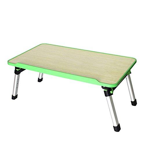 Xuping Table de lit Pliable pour Ordinateur Portable Table de Sol pour Bureau Table Pliante Portable Table de Camping pour extérieur Mini Table Pique-Nique, 52 x 30 x 24~32 cm, réglable en Hauteur