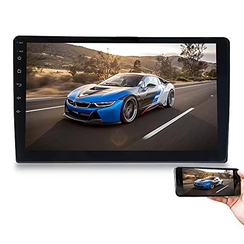 Hengweili Android Autoradio Radio de Coche 2 DIN 10.1 Pulgadas Pantalla táctil GPS WiFi Bluetooth Mirror Link USB FM RDS Control del Volante (1G + 16G)