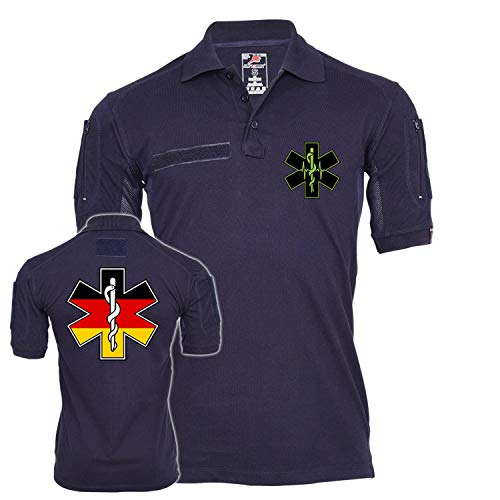 Polo German Medic Service Special Ops Combat Medical Bundeswehr #22957 - Bleu - XXXX-Large