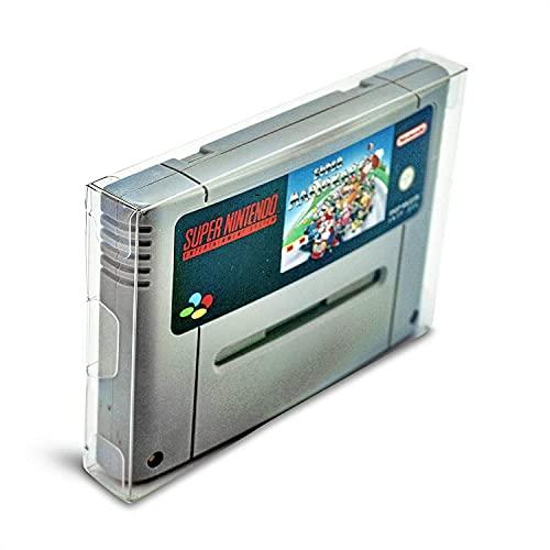 Link-e : 10 X Boitier de protection plastique pour cartouche de jeu compatible avec console Super Nintendo, SNES, Super Famicom