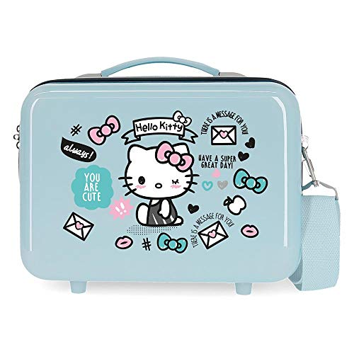 Hello Kitty You Are Cute Nececer Adaptable Azul 29x21x15 cms ABS