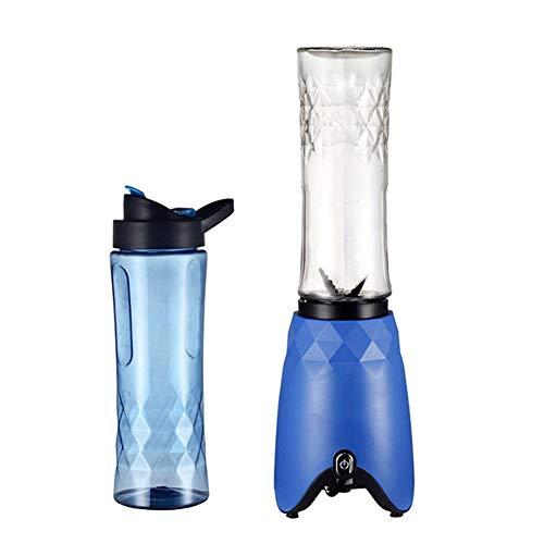 Smoothies Blender 180 W, Lama A 4 puntas de acero inoxidable, batidora para batidos, batidos, frutas y verduras, con botellas de Tritan portátiles sin BPA de 500 ml, 22000 rpm, color azul