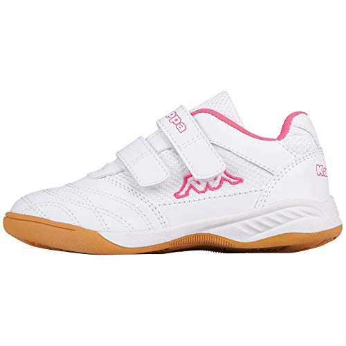 Kappa Jungen Mädchen Kickoff Low-Top, 1027 white/l`pink, 30 EU
