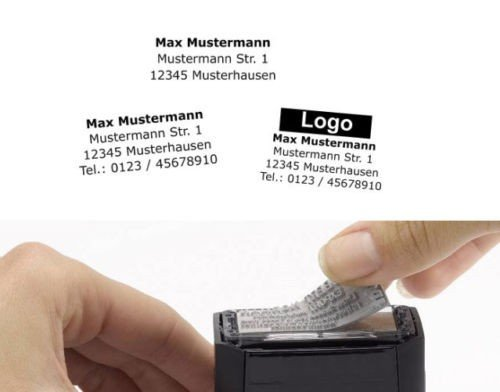 Stempelplatte Textplatte für alle COLOP Printer 10 20 30 40 50 60 (COLOP Printer 40-59x23 mm)