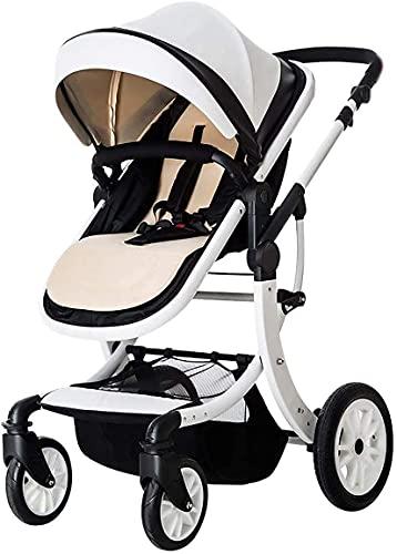 Sistema de viaje con cochecito de bebé, sistema de viajes Carruaje infantil Cochecito portátil para bebés 3 en 1 cochecito para bebés con silla de shock resistente a los golpes para recién nacido y un