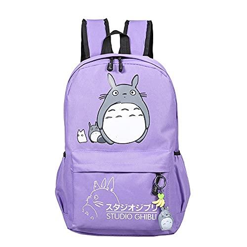 Teenager Mein Nachbar Totoro Rucksack Canvas Cartoon Anime Rucksackreisen Tag Sack Rucksack Schultasche (Color : E)