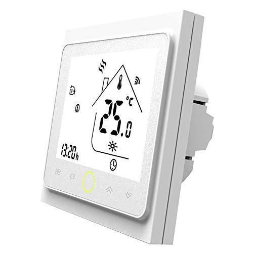 MOES Smart Thermostat WiFi Temperaturregler Smart Life/Tuya APP Fernbedienung für Wasser Gas Boiler Heizung 5+1+1 Programmierbar, Kompatibel mit Alexa Google Home (Weiß)