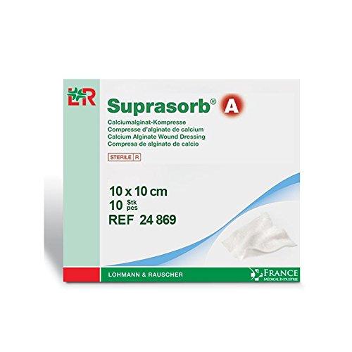 Pflaster Alginat von Calcium SUPRASORB® A 10x 10cm Packs von 10–24869