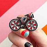 QISKAII Amo mi Pin de Bicicleta Rojo Broche de Bicicleta Ciclistas de Estilo Vintage Fresco Insignias Deportes Pines de Solapa Ciclismo Joyería Biker Regalo