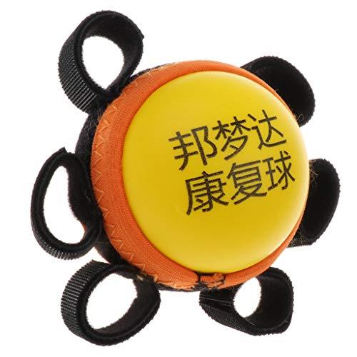 Hellery Tragbare Handgriff Gymnastikball Für Massage Stressabbau Für Erwachsene Kinder - Gelb-Kinder