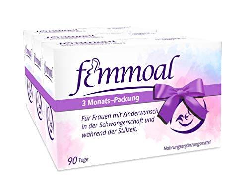 FEMMOAL PLUS mit Folsäure & DHA bei Kinderwunsch, Schwangerschaft und Stillzeit (180) / 3 Monate