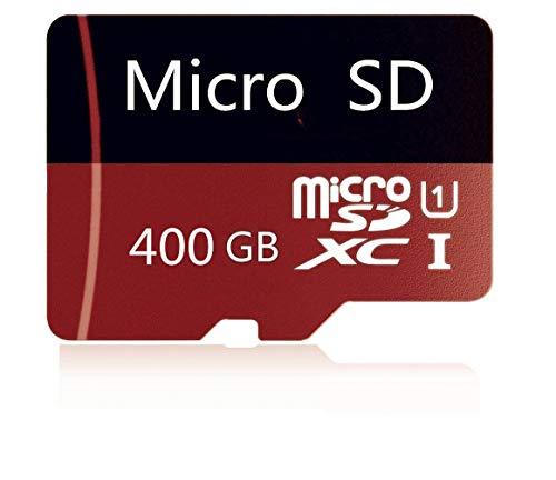 Tarjeta de memoria Micro SD de 400 GB de alta velocidad diseñada para smartphones Android, tabletas Clase 10 SDXC con adaptador