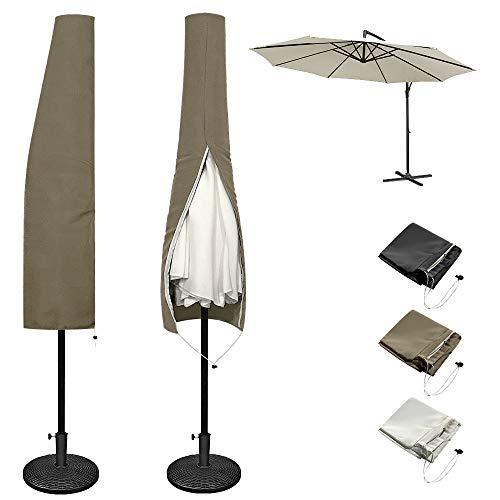 Froadp - Abdeckhauben für Sonnenschirme in Dunkelbraun, Größe Type A - 230x26/46cm