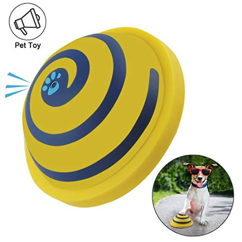 COPACHI Pet Dog Squeaky Toys, Dog Vocal Disc Dogs Entertainment Sounding Disc, Puppy Toys Gifts for Medium and Large Dogs,Sounding Disc Toys Play Toy for Indoor Play