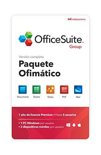 OfficeSuite Group para 1 PC Windows - Licencia de 1 año, 5 usuarios
