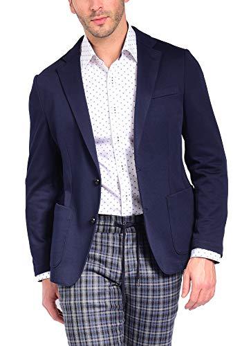 Craft & Soul Men's Slim Fit Casual Comfort Knit Blazer Sport Coat Jacket Navy