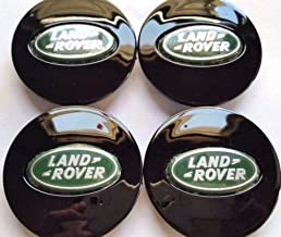 Land Rover, 4 X, Center Cap, HubCap, Black Oval, Green Chrome Logo, 63MM, LR2, LR3, LR4, Range Rover, Sport, EVOQUE, Free Lander, Discovery, Defender