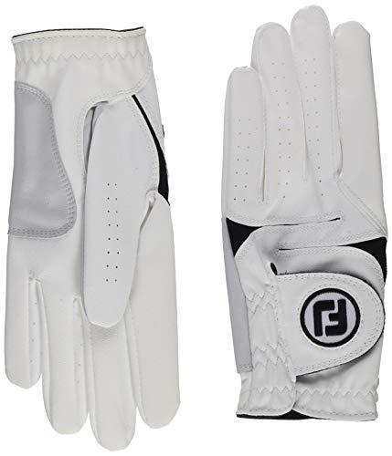 Footjoy Herren Handschuhe WeatherSof, Herren, WeatherSof, weiß, M - paquete de 2