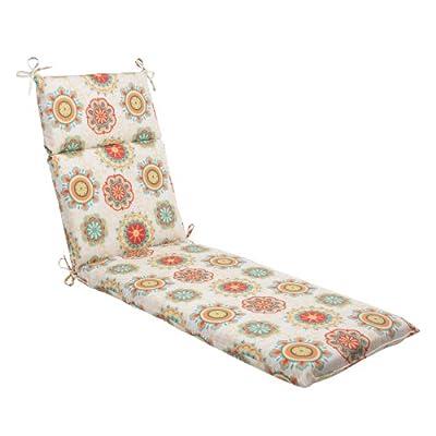 Pillow Perfect Indoor/Outdoor Fairington Chaise Lounge Cushion, Aqua