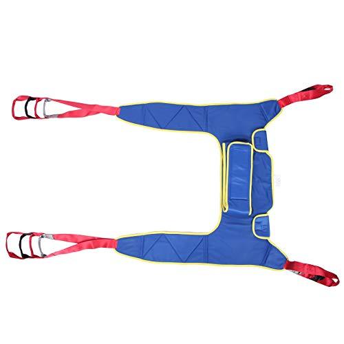 Lift Sling, Ganzkörper-Sling-Beinheber, verdickt mit zwei Kissen, wiederverwendbarer, älterer Patient, Transfergürtel Lift Sling Geteilter Beinriemen für bettlägerige Behinderte