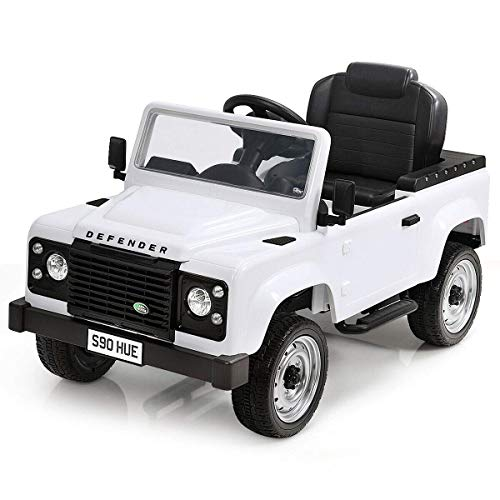 Costzon Pedal Go Kart, Licensed Land Rover Defender 4 Wheel Pedal Powered Kids Ride on Car Toy with EVA Tires, Brake, Children
