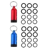 SaniMomo 2X Durable Mini Aluminium Tauchflaschen Mit 12 O Ringen Tauchschlüssel