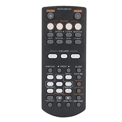 VBESTLIFE ABS Schwarz Langlebiger DVD-Videocontroller Ersatz für Fernbedienung für Yamaha RAV28 RAV34 RAV250 RX-V361 RX-V365 HTR-6030 HTIB-680