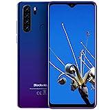 Blackview A80 Pro (2020) 4G Smartphone ohne Vertrag Günstig 6,49 Zoll Android 9.0 4GB RAM + 64GB ROM, 128GB erweiterbar 4680mAh Akku 13MP+8MP Dual Kamera Dual SIM Handy - Fingerabdrucksensor Blau