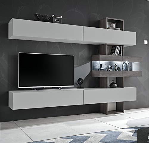 ASM TV-Möbel Tokio – L 250 x T 35 x H 180 cm – Weiß