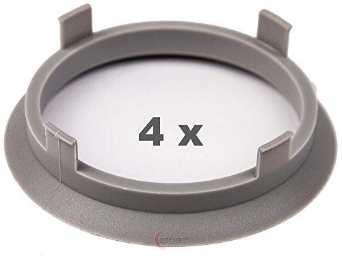 4X Anello Di Centraggio 60.1mm a 54.1mm Grigio chiaro/Light Grey