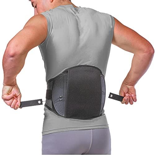 BraceAbility Spondylolisthesis Back Brace - Ankylosing Spondylolysis Lumbar Spine Corset Stabilizer Belt for Pars Defect Lower Back Pain, Anterolisthesis Support, Spinal Fracture Treatment (Medium)