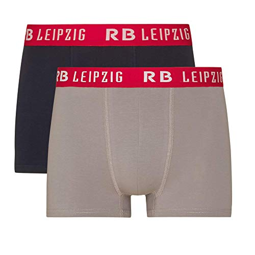 RB Leipzig Boxer Shorts Set of 2, Blau Herren XX-Large Kurze Hose, RasenBallsport Leipzig Sponsored by Red Bull Original Bekleidung & Merchandise