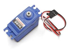 Digital high-torque ball bearing servo (waterproof) 125 oz-in torque; Transit time 0.17 sec/60° Dimensions: 55 x 20 x 42.3mm Can be used in all Traxxas 1/10 scale vehicles and many other applications Rebuildable with #2072 gear set and #2074 servo ca...