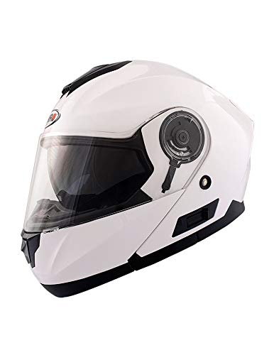 Shiro 128.0507040M Casco Modular SH507, Hombre, Blanco, Medium