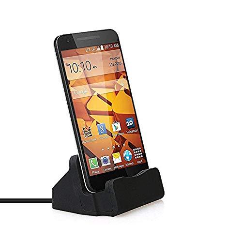 Sweet Tech Micro USB Dockingstation Ladestation Halterung Ladegerät Dock Zum Synchronisieren mit 1m Kabel für Sony Xperia Z5 Compact - Schwarz