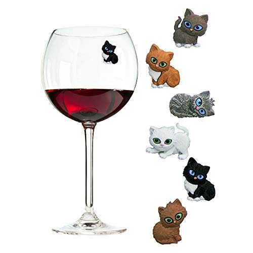 Simplemente Charmed gato vino charms o...