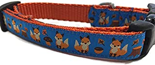 Autumn Dog Collar, Caninedesign, Fall, 1 inch Wide, Adjustable, Nylon, Medium and Large