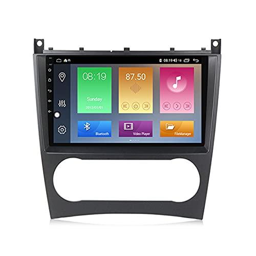 ADMLZQQ Car Stereo GPS Navegación Carplay DPS Integrado Android 10.0 Reproductor de para Benz W203 | 2.5D Pantalla LCD Táctil | USB | WLAN | Bluetooth/Reverse Camera(Gift),M100