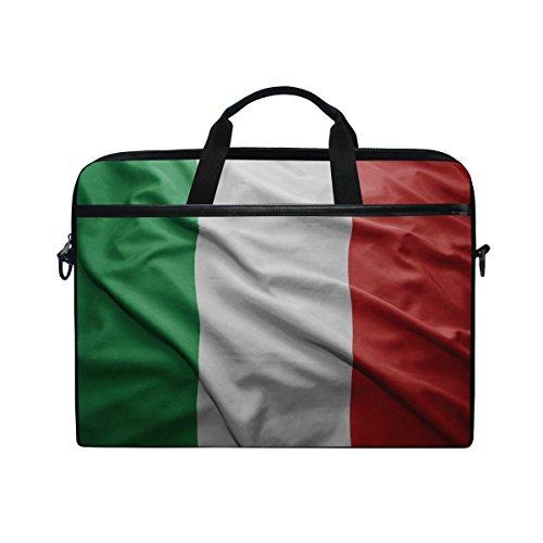 Laptoptasche/Umhängetasche mit Tragegriff, Motiv Italien Flagge, 35,6 cm (14 Zoll)