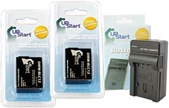 2 Pack - Replacement for Panasonic Lumix DMC-FZ200 Battery + Charger - Compatible with Panasonic DMW-BLC12 Digital Camera Battery and Charger (1010mAh 7.2V Lithium-Ion)