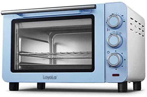 15L Mini horno 100-230 ℃ Temperatura ajustable y 60 minutos Temporizador Three-Layer Hornos eléctricos para hornear multifuncional -Blue