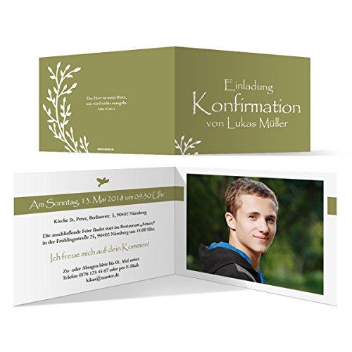 30 x Konfirmation Einladungskarten Konfirmationseinladungen Konfirmationskarten - Wachsende Knospen